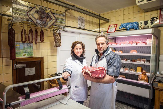 Claudine Van Hulle en Marc Raemdonck van slagerij Raemdonck.