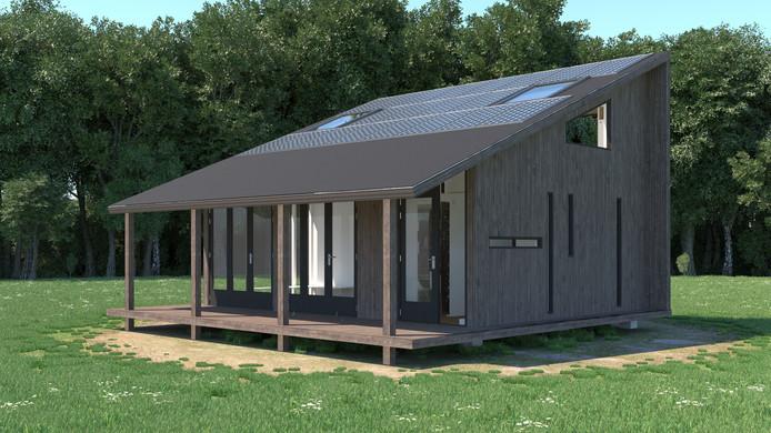 Voorbeeld van een tiny house.