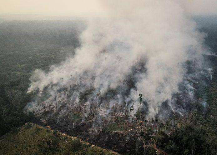 Bosbranden in het Amazonegebied in Brazilië.