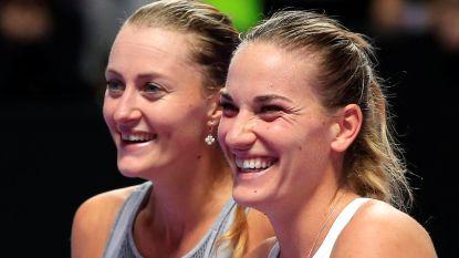 Babos en Mladenovic verlengen titel in dubbelspel op WTA Finals