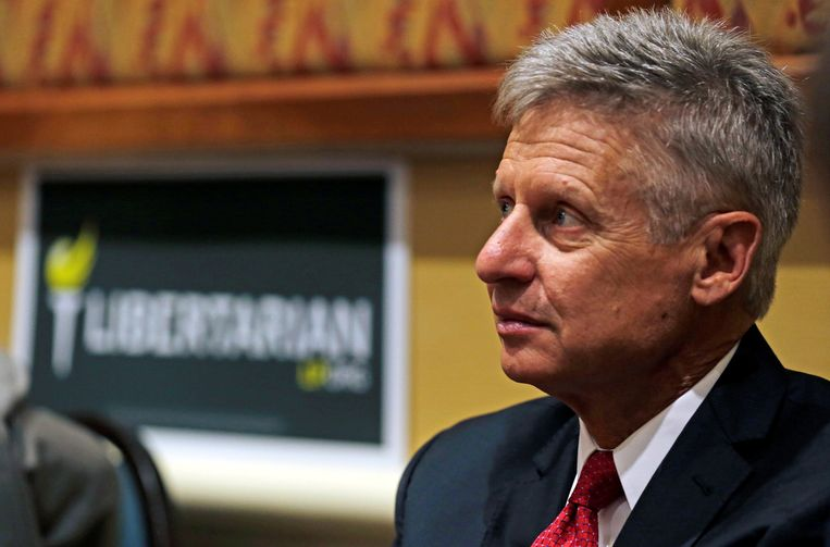 Presidentskandidaat Gary Johnson Beeld reuters