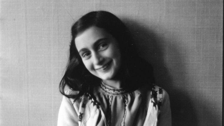 Anne Frank op deze foto uit de collectie van het Anne Frank Fonds Basel. Beeld EPA