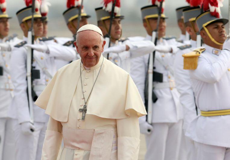 Paus Franciscus reist deze week rond in Chili en Peru.  Beeld REUTERS