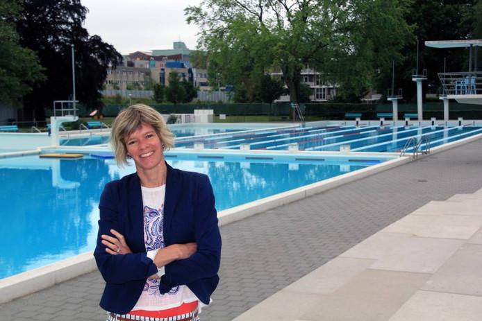 De nieuwe voorzitter wil scholen en andere organisaties meer betrekken bij het Openluchtbad. foto Ties van der Heide
