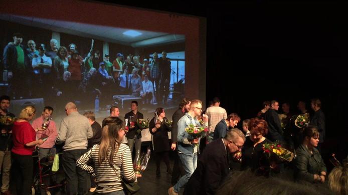 Een beeld van het premièrefeest in de Gruitpoort.