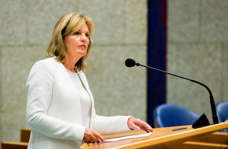 Pia Dijkstra in de Tweede Kamer. Beeld Freek van den Bergh / de Volkskrant