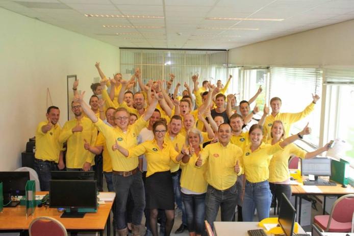 Foto bij de Facebookpost van Fonteyn: het personeel is optimistisch gestemd.