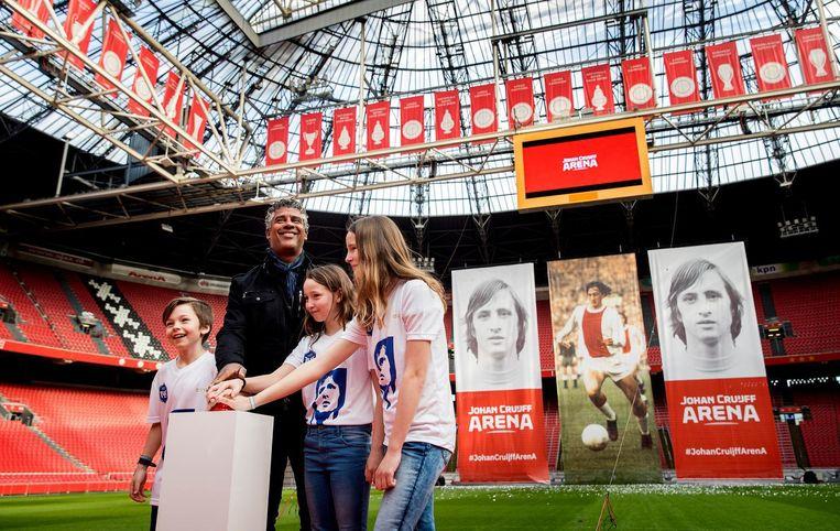 Frank Rijkaard en de kinderen van Eberhard van der Laan Beeld ANP