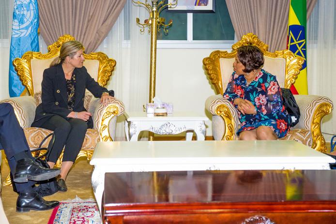 Koningin Máxima is aangekomen in Ethiopië voor een tweedaags werkbezoek voor de Verenigde Naties.