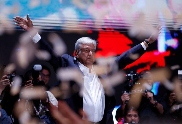 De nieuwe Mexicaanse president Andrés Manuel López Obrador. Beeld REUTERS
