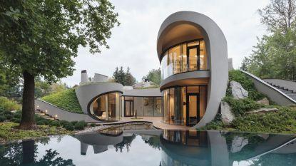 Organische architectuur zit in de lift en deze villa is daar perfect voorbeeld van