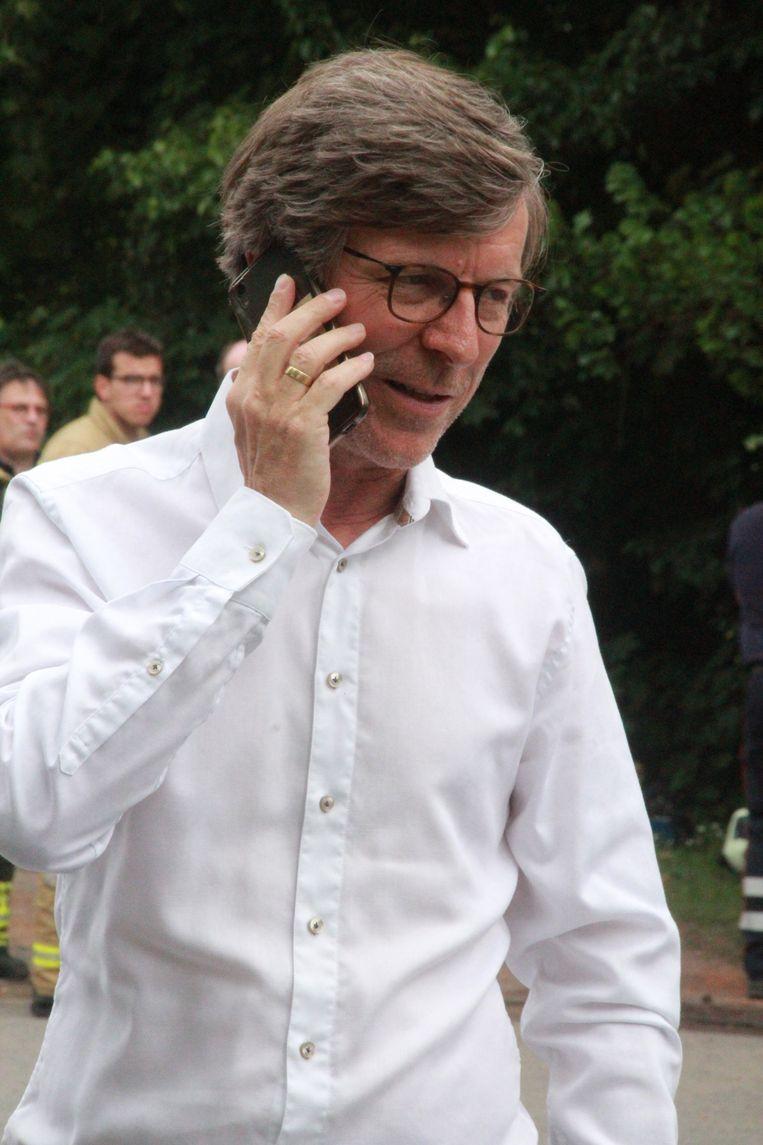 Brand Harelbeke burgemeester Alain Top