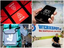 Uber en Airbnb groeien als kool, maar de echte wereld groeit niet mee