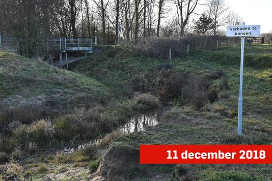 De Oeffeltse Raam stond droog in oktober. Nu staat er slechts een paar centimeter water in.