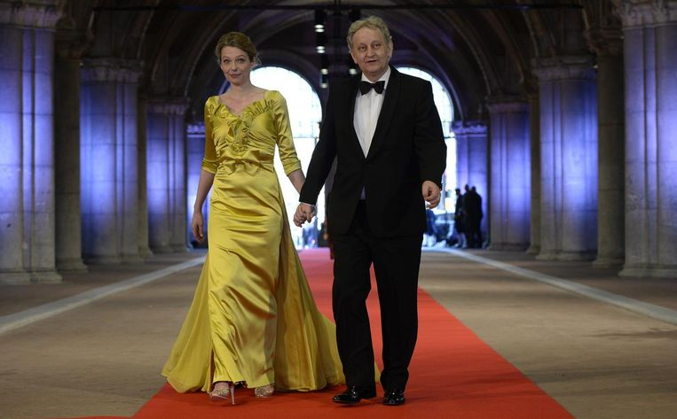 Eberhard van der Laan met zijn echtgenote. Beeld ANP