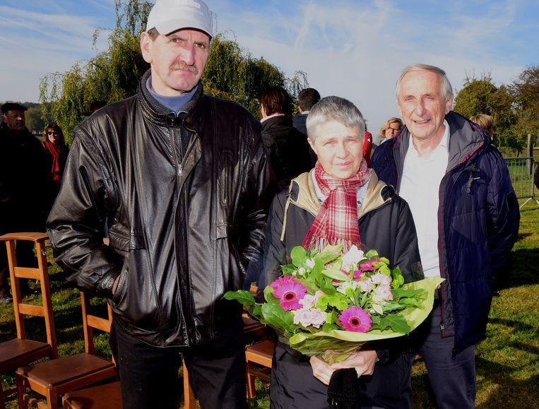 Dirk en Maria kregen bloemen van de gemeente Gooik