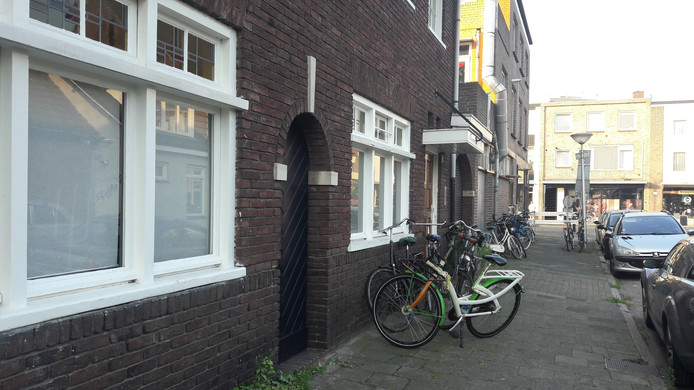 Studentenhuis in de Stuiverstraat in Eindhoven.