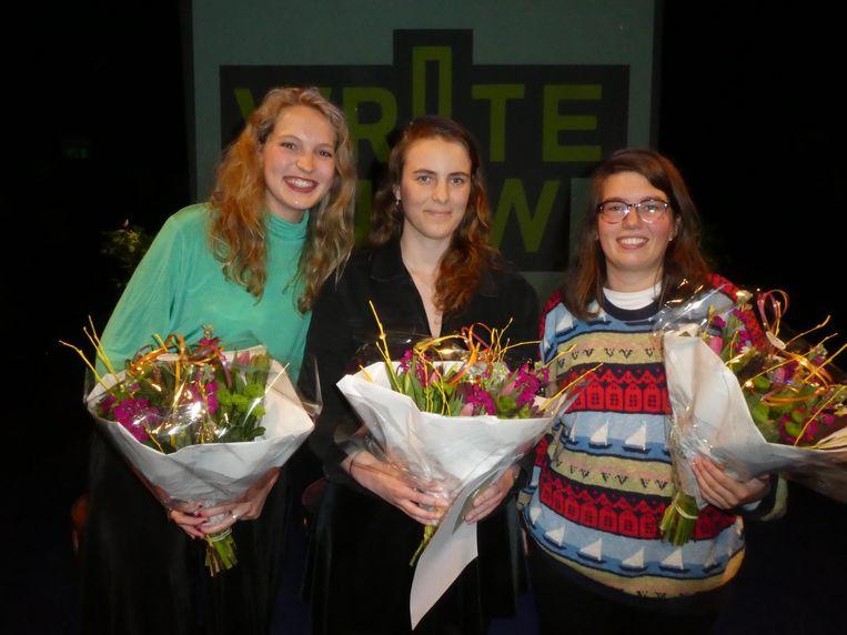 Van brons naar goud: Annemijn Maas, Anne Steenhoff en Nicole Kaandorp, die de Amsterdamse eer gaat verdedigen in Rotterdam. Beeld Hans van der Beek