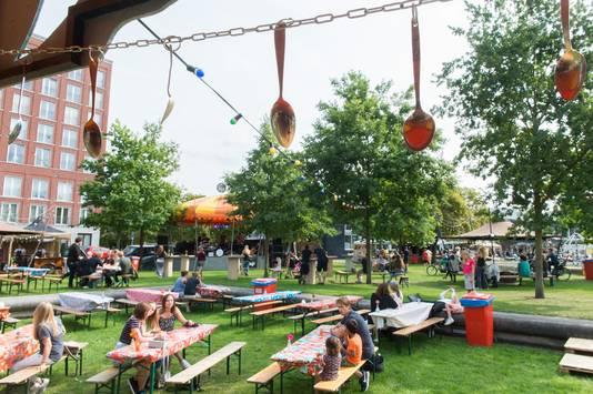 Festival Lepeltje Lepeltje in het Chassepark in Breda.