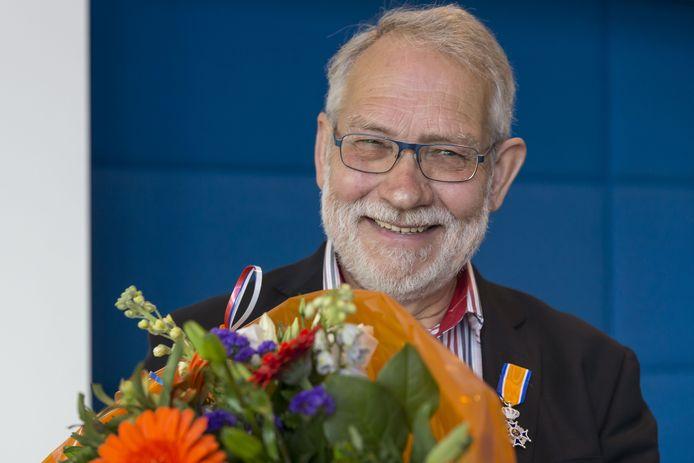 Henny Kuiphuis toen hij in april 2017 koninklijk werd onderscheiden.