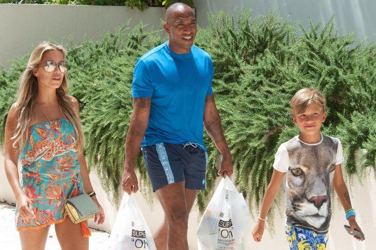 Sylvie Meis met Momo en zoontje Damiàn.