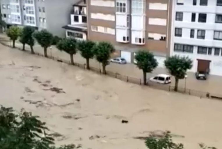 Zware overstromingen in de stad Tafalla