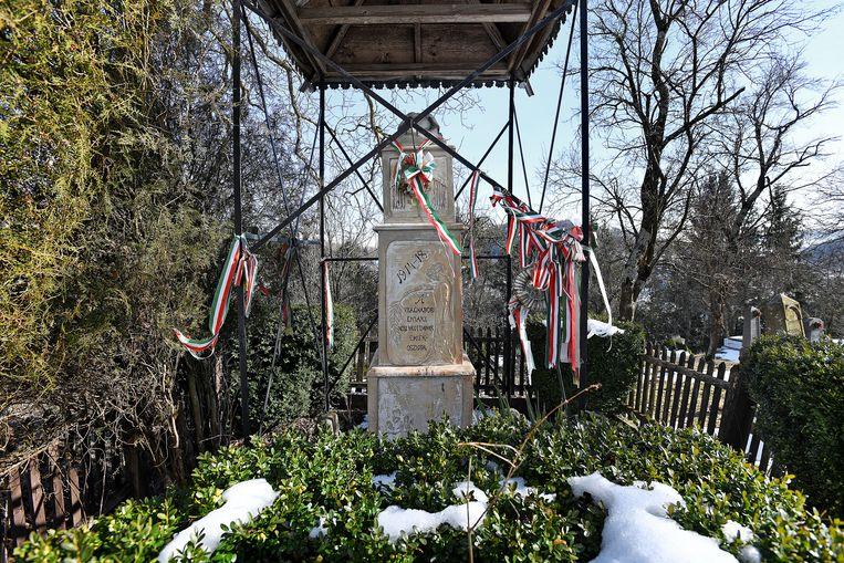 Monument voor de Eerste Wereldoorlog in het dorpje Enlaka. Foto Guus Dubbelman / de Volkskrant Beeld null