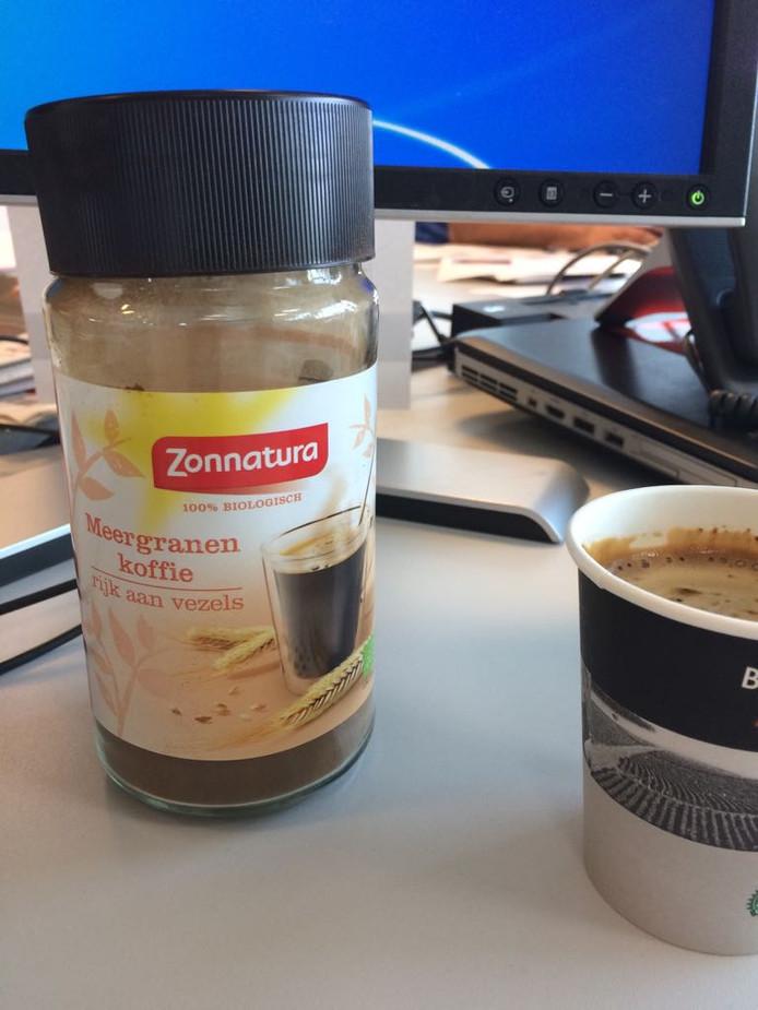 Meergranenkoffie. ''Het smaakt echt nergens naar. Het heeft het 'mondgevoel' van koffie en het is een beetje bitter.''