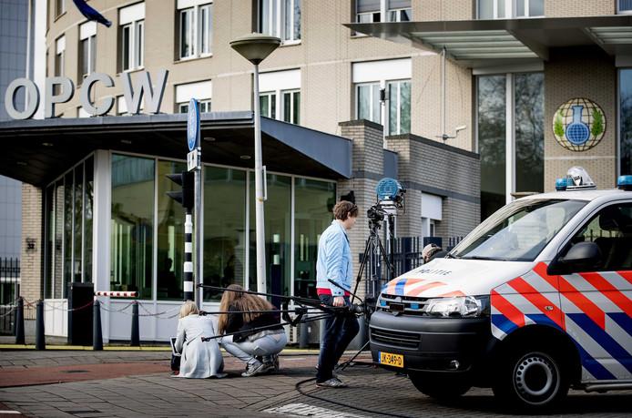 Het hoofdkwartier van de OPCW in Den Haag.
