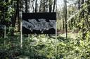Kunst langs de Kunstwandelroute in Hummelo.