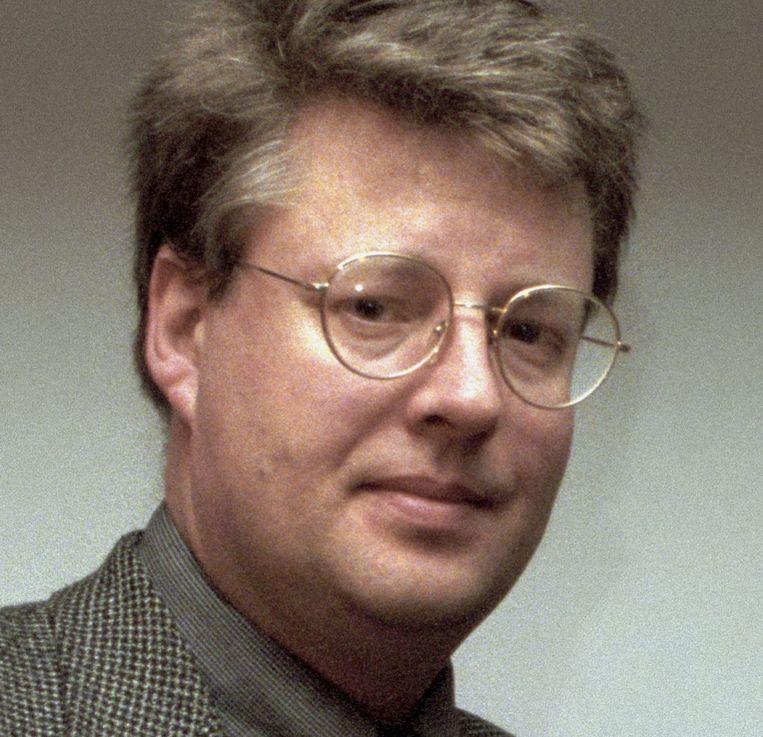 Stieg Larsson in 1998. Beeld ap