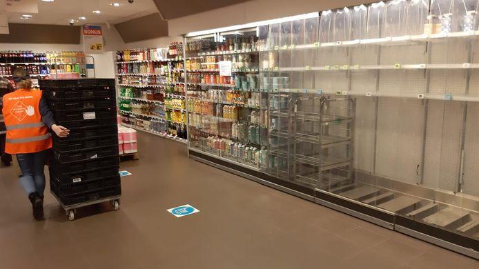 Ook in Breda was er geen zuivel te verkrijgen.