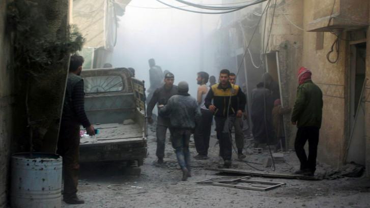 Honderden slachtoffers bij bombardementen in Syrië