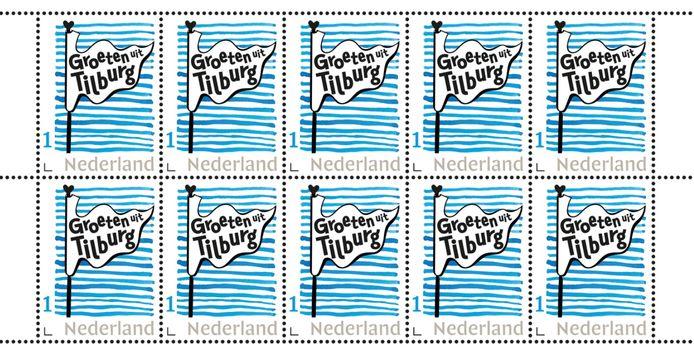 De eerste echte Tilburgse postzegel.