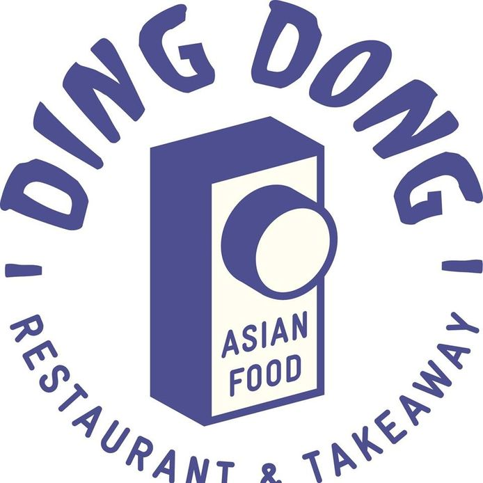 Logo Ding Dong in de Snellestraat