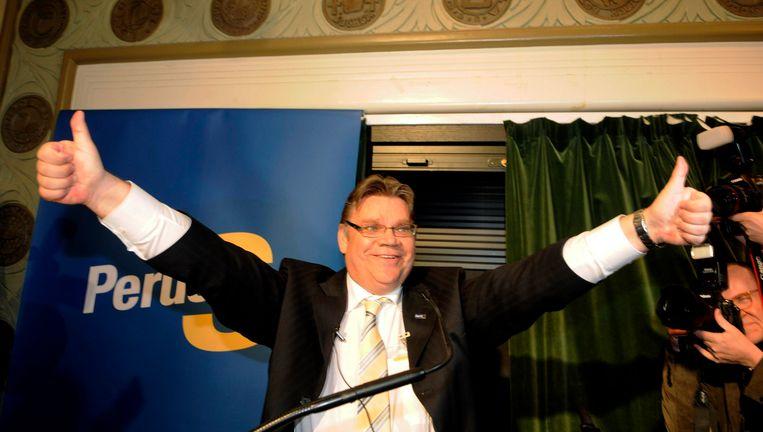 Partijleider van de Echte Finnen, Timo Soini. Beeld REUTERS