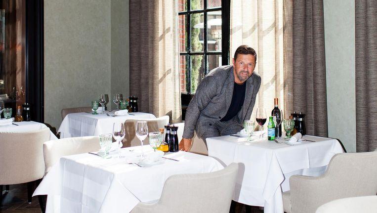 Carlo Ferilli heeft het restaurant van het College Hotel onder zijn hoede. 'Het kon wel wat strakker' Beeld Renate Beense