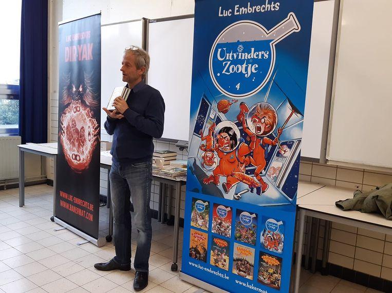 Luc Embrechts bezorgde de leerlingen een boeiende schooldag.