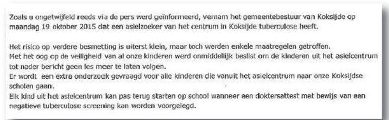 Vrijdag Uitsluitsel Over Tbc Testen Veurne Regio Hln