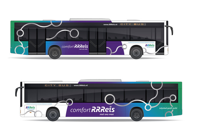 De nieuwe bussen die vanaf 2020 gaan verschijnen op de wegen in Flevoland, Gelderland en Overijssel.