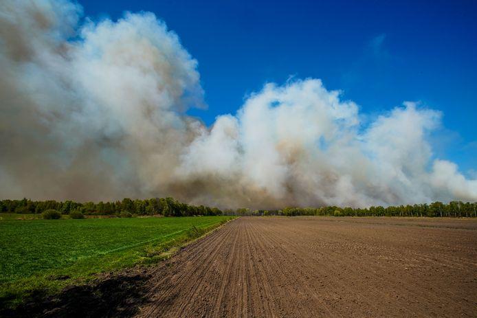 De brand in de Deurnsche Peel.