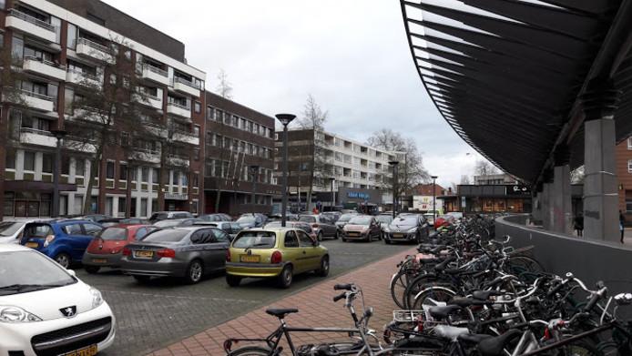 Parkeerplaats aan de Stadsbrink in Wageningen.
