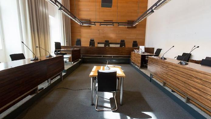 De rechtbank in Freiburg heeft verhoogde veiligheidsmaatregelen getroffen in en buiten de rechtszaal.