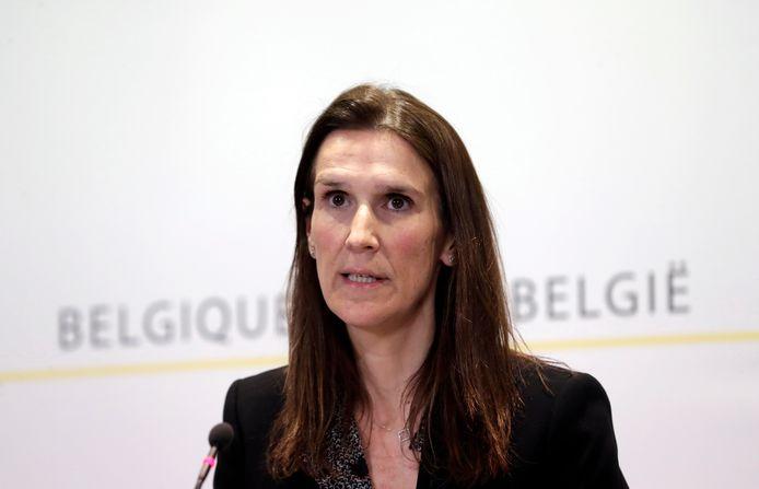 La Première ministre (en affaires courantes) Sophie Wilmès (MR)