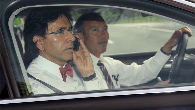 Preformateur Elio Di Rupo ging verslag uitbrengen bij de koning.