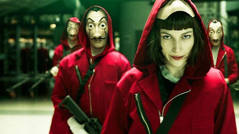 La Casa de Papel, een van de populairste series op Netflix.