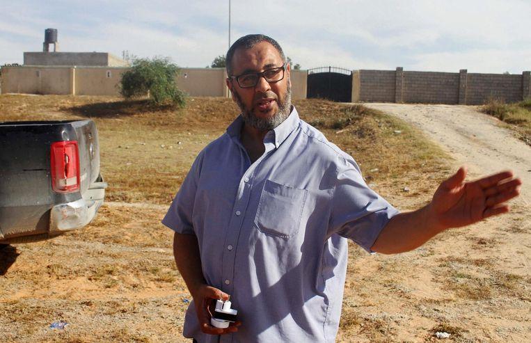 De vader van Salman, Ramadan Abedi, in Libië. Beeld reuters