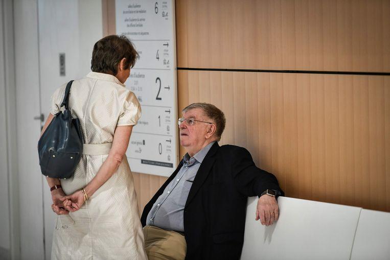 Didier Lombard en zijn vrouw tijdens het proces.