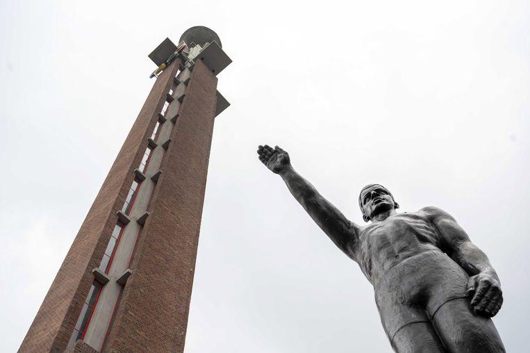 Het standbeeld van Gra Rueb Beeld EPA