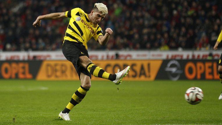 Aanwinst Kevin Kampl speelde zijn eerste competitiewedstrijd voor Dortmund.